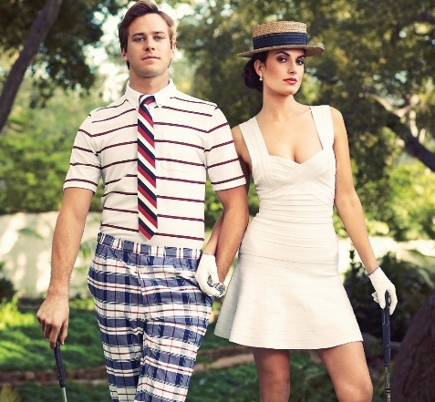 Armie and his wife Elizabeth Chambers during a photo shoot