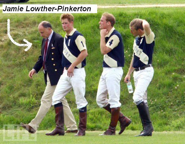 Jamie Lowther-Pinkerton with William and Harry