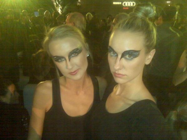 Black Swan Makeup at after party - pic from Mastin Kipp