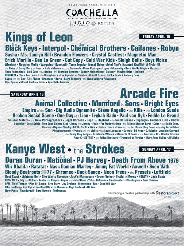 Coachella 2011 Official Lineup