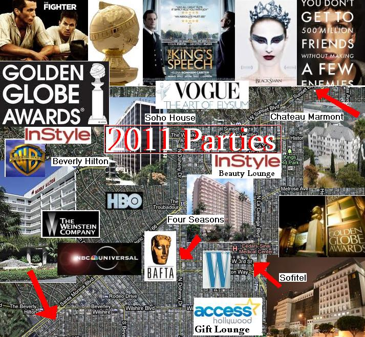 2011 Golden Globes Party List