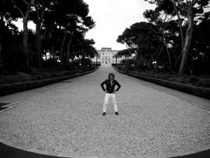 Purple mag Editor Olivier Zahm at Hotel du Cap 2010 - pic from Olivier Zahm