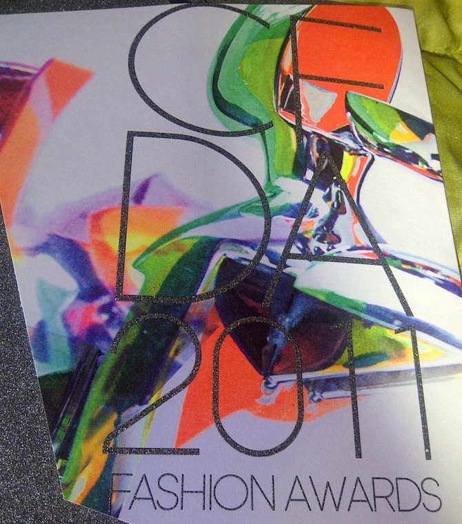 2011 CFDA Awards invite