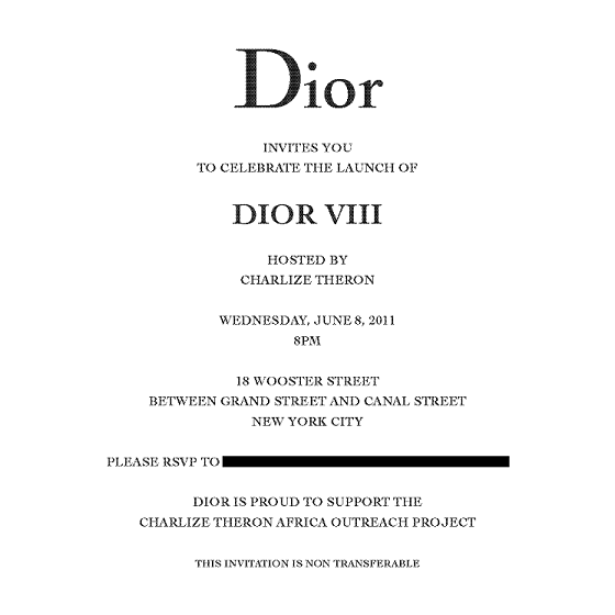 Hostess Charlize Theron helped preview the new Dior VIII time piece at an ...