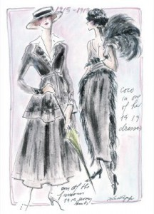 Inside the book - Sketches from Karl Lagerfeld