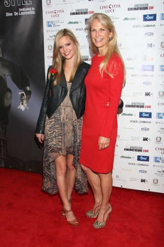 Dina De Laurentiis & Martha De Laurentiis at the Cinema Italian Style Opening Gala on Nov. 11, 2011
