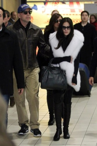 Tallulah Willis looking chic in white fur upon arrival in Paris -- Photo credit -- socialitelife