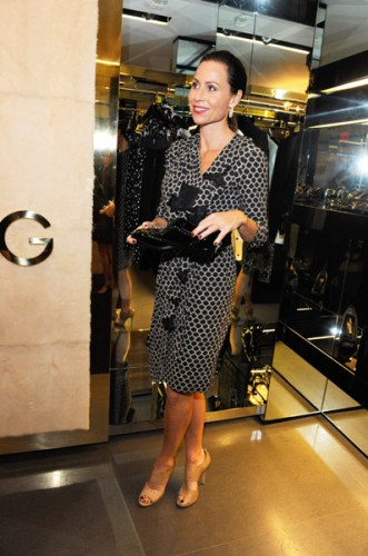 Minnie Driver at Dolce & Gabbana's cocktail party for Terraferma on November 9, 2011 in Beverly Hills, California. (Photo by Amy Graves/WireImage)