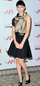 Rooney Mara (Girl with the Dragon Tattoo) in Lanvin and Brian Atwood