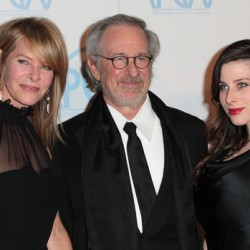 Kate Capshaw, Steven Spielberg, Sasha Spielberg  at the 23rd Annual Producers Guild Awards in January 2012