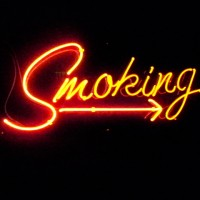 smoking sign @ smoke & mirrors in hollywood -- pic via Jimon-magazine