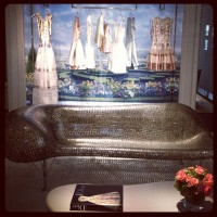 Yes that couch IS made of nickels @dior -- pic via Cher Coulter