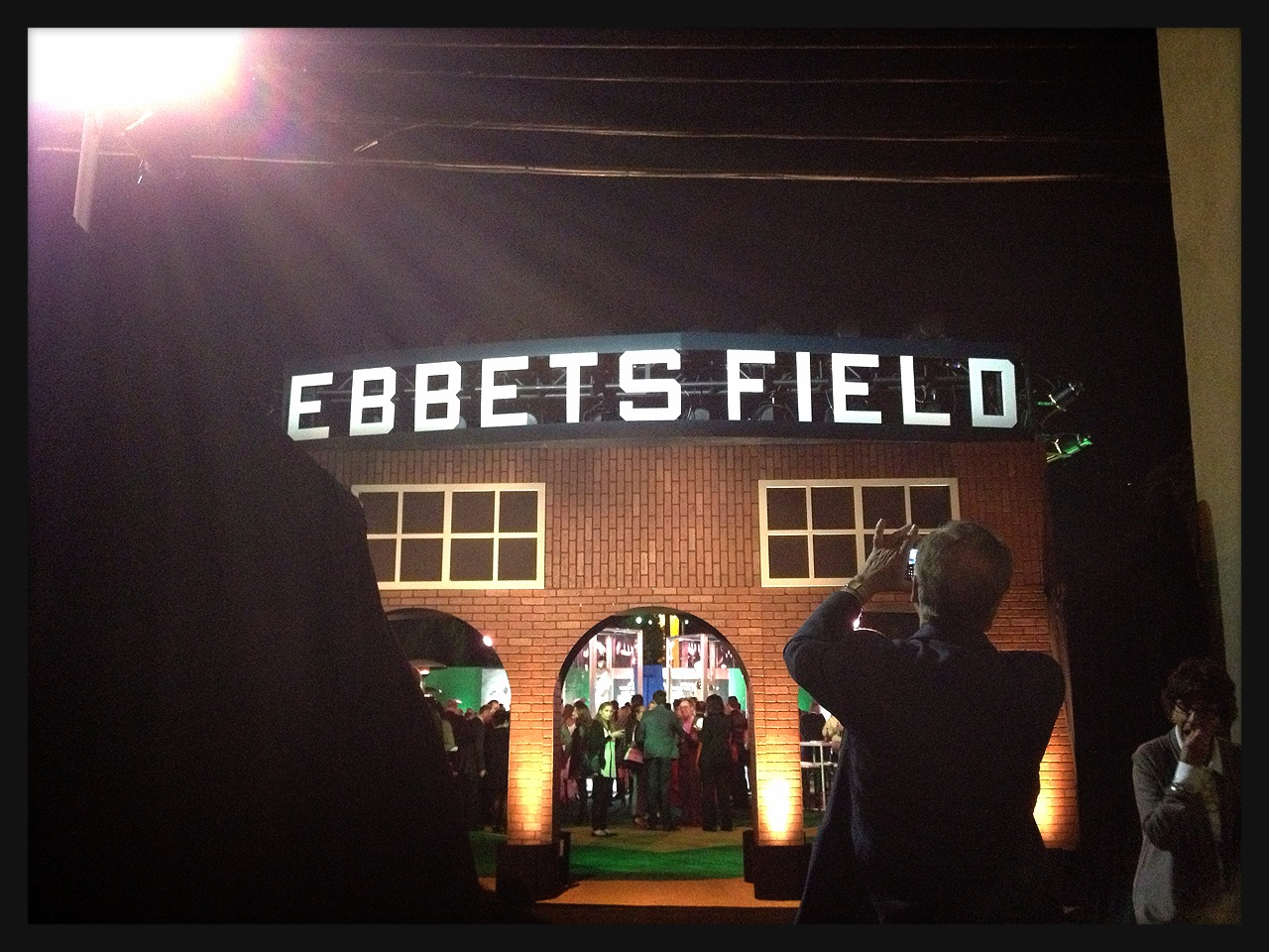 Entrance to the after party - A replica Ebbets Field!