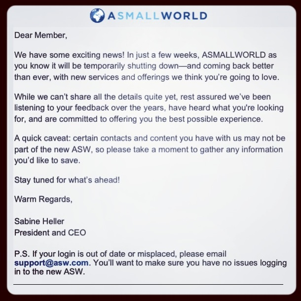 asmall-world-shutting-down
