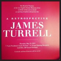 James Turrell opening night invite