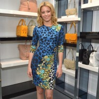 Elizabeth Banks at Versace today