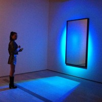 Magda Berliner at opening night of James Turrell at LACMA