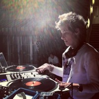 Sam Ronson dj-ing, friend of the Domaine founders Minka Kelly (photo via @BeverlyHilton)