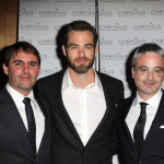 Honoree Roberto Orci, actor Chris Pine, and honoree Alex Kurtzman